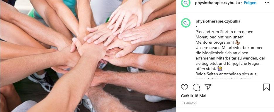 Instagram-Post zum Mentoring-Programm.