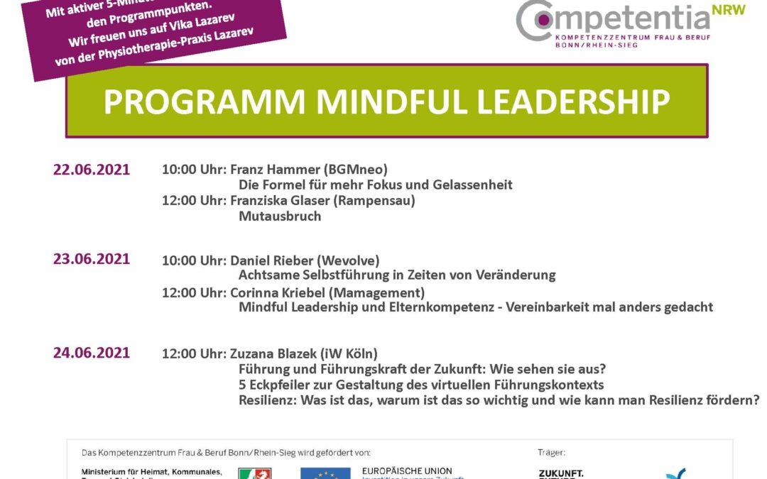 Veranstaltungsreihe zum Aktionstag 2021: Mindful Leadership