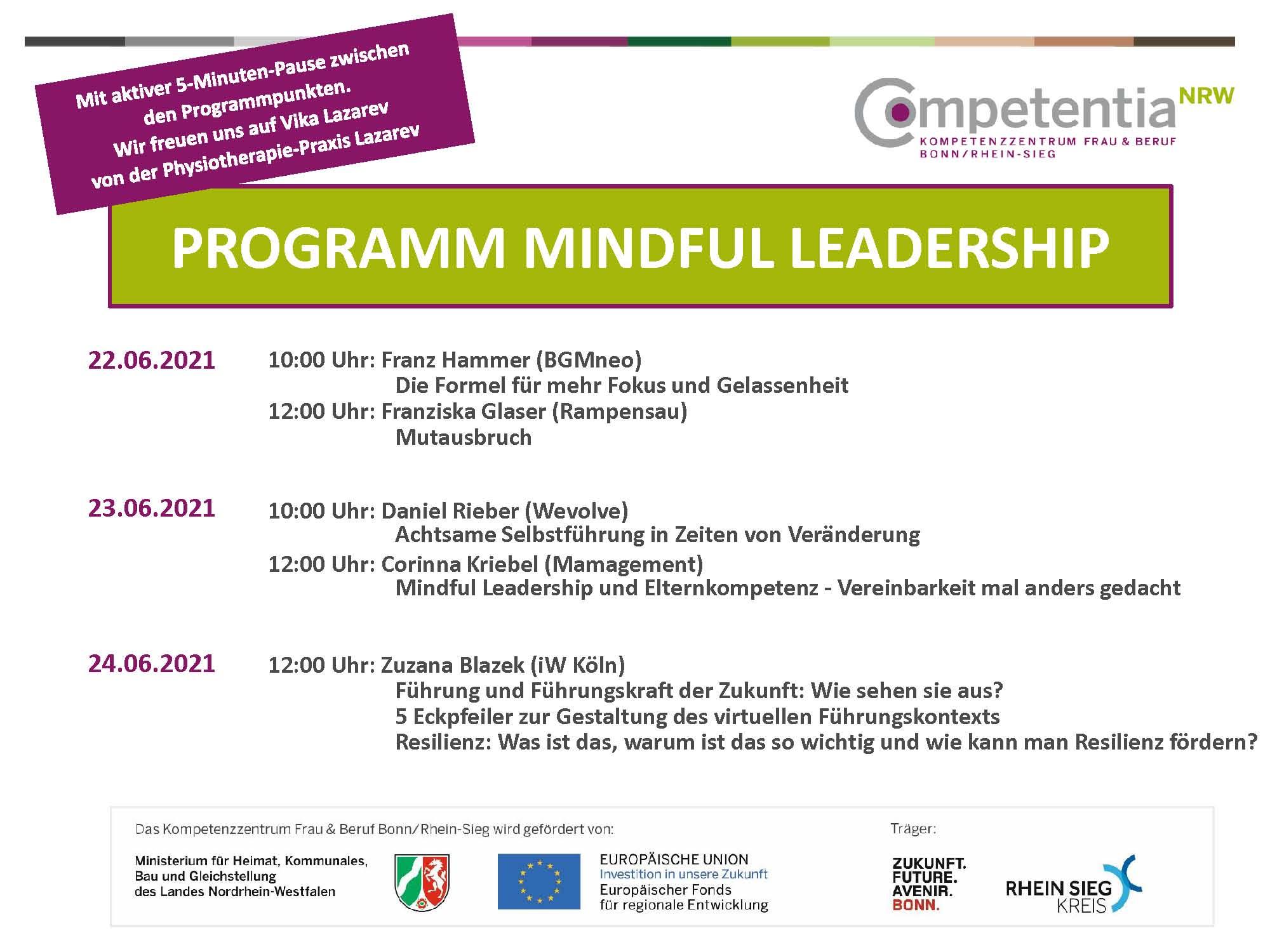 Programm Mindful Leadership